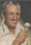 Don Bradman advertising Peters Ice Cream
